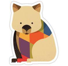 'Hello Wombat' Sticker by printedsparrow Australian Nursery, Australian Animals, Australian Art, Animal Nursery, Nursery Art, Kids Decor, Art Decor, Quokka, Platypus