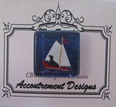 Accoutrement Designs Dog Sailboat Needle Minder Magnet CBK Laura Megroz #AccoutrementDesigns