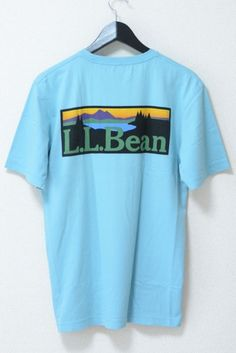 USED&VINTAGE L.L.Bean ロゴプリントTシャツ LIGHT BLUE ¥2,700(TAX IN)