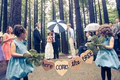 """""""Here comes the Bride"""" Wooden Hearts"""