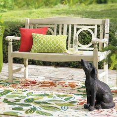 Add character to the garden, patio or sunroom: the distinctive openwork design and smooth, slatted surfaces make our Yorkshire    Bench a pleasure from every angle. Weathered finishes offer a gracefully aged style that would take Mother Nature years to accomplish.            Outdoor furniture with elegant details and an antiqued finish, right out of the box                Crafted from solid hardwoods                Finished with a lasting, weathered patina                Annual urethane ...
