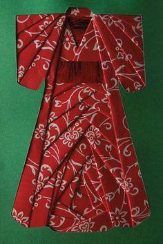 Iris folding : A chacun son kimono ! Iris Folding Templates, Iris Paper Folding, Paper Folding Crafts, Iris Folding Pattern, Origami Paper Art, Paper Quilling, Japanese Quilt Patterns, Paper Piecing Patterns, Pliage D'iris
