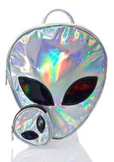 Holographic Bag Hologram Cute Bags Backpack Purse Wallet Pouch Alien