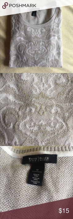 WHBM sweater Gorgeous gold and tan sparkly sweater in excellent condition. White House Black Market Sweaters