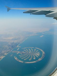 Palm Island seen from an Emirates Airbus A380