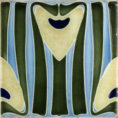 c.1905 Bendorf German Art Nouveau Tile