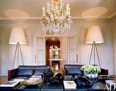 design,designers-Paris home Elie Saab, a beautiful restored Lebanese house designed by architect Chakib Richani luxurydesigndesignersarchitecture Paris Living Rooms, Home And Living, Living Spaces, Modern Living, Simple Living, Living Area, Living Walls, Luxury Living, Architectural Digest
