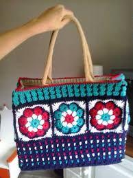 Afbeeldingsresultaat voor ah tas haken Crochet Bag Tutorials, Sewing Tutorials, Crochet Patterns, Crochet Handbags, Crochet Purses, Crochet Bags, Baby Girl Crochet, Love Crochet, Knitting Projects