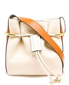chloe handbags sale online - See by Chlo�� Vicki Capuccino kleine Bucket aus Leder mit Troddeln ...
