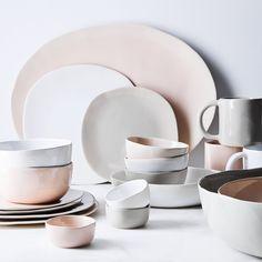 Best Sources for Organic Ceramic Dinnerware - Hither & Thither Stoneware Dinnerware Sets, Ceramic Tableware, Ceramic Pottery, Kitchenware, Dinnerware Ideas, Modern Dinnerware, White Dinnerware, Scandinavian Dinnerware, Farmhouse Dinnerware