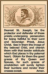 prayer cardStJoseph_for Persecuted priests_KankakeeTLM Catholic Religion, Catholic Saints, Roman Catholic, Universal Prayer, Dynamic Catholic, Personal Prayer, Prayer For Protection, Miracle Prayer, Beautiful Prayers