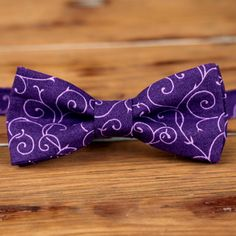 Purple bow tie for kids boys purple bowtie cotton by becauseimme