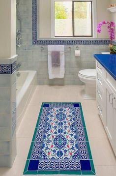 salle de bain mediterranenne google suche - Zellige Marocain Salle De Bain