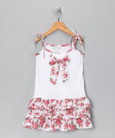 Take a look at this Pink Rose Tie Dress - Infant, Toddler & Girls by Fantaisie Kids on #zulily today!