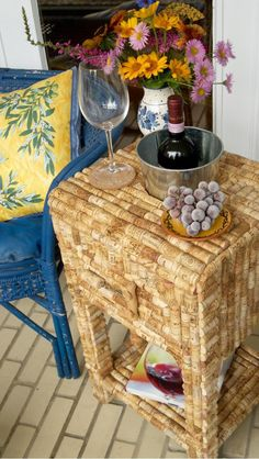 Corkitecture - up-cycled wine cork side table