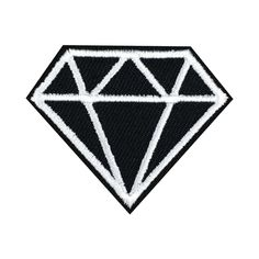 Diamond Patch Embroidered Punk Iron On Sew On Patches meet you on www.Fleckenworld.com