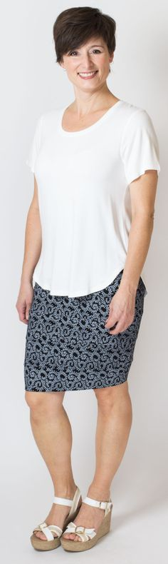 Pattern skirt and simple top? Classic! 95% Bamboo - XXS-4X - Blue Sky Clothing Co