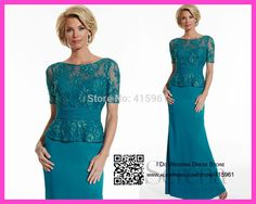 Aliexpress.com : Buy Tailored Bateau Lace Short Sleeve Mother of the Groom Dresses Gowns for Bride Mermaid Turquoise 2015 M2120 from Reliable dress flow suppliers on I Do Wedding Dress Store | Alibaba Group