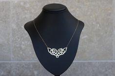 Gold Celtic Shape Necklace, Celtic Knot, Etnic Necklace, Celtic Jewelry, Irish Necklace, Scottish Jewelry. $70.00, via Etsy.