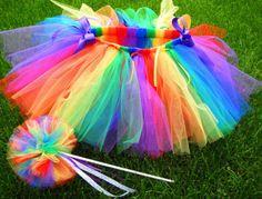 Rainbow Tutu & pompom!