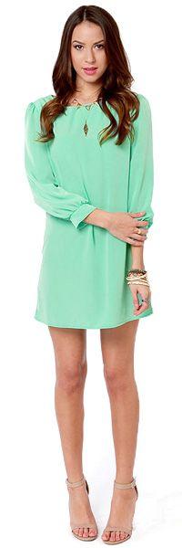LuLu*s Sorbet-by Doll Mint Green Shift Dress