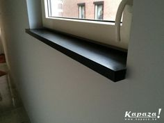 zwarte basalt Barn Kits, Window Sill, Windows And Doors, Decoration, Blinds, Sweet Home, New Homes, Floor Plans, House Design