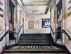 """STADTBAHNSTATION GUMPENDORFERSTRASZE"" - Öl auf Holz - 175 x 225 cm Bahn, Museum, Home Decor, City, Homemade Home Decor, Decoration Home, Museums, Interior Decorating"