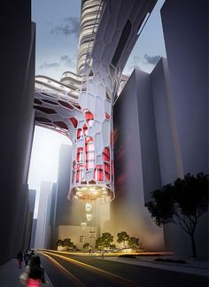 The parasite. A nightclub design contest, this took 3rd place for a building designed to be in Hong Kong. Hope they do build it someday.
