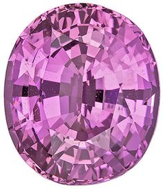 Genuine Pink Sapphire Loose Gemstone, Oval Cut, 9.4 x 8.1 mm, 3.48 Carats at BitCoin Gems