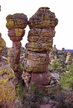 Kissing Rocks Formation - Heart of Rocks Trail - Chiricahua National Monument, Arizona.