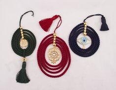 gouria me kordoni k eksartima 223231 copy Christmas Crafts, Christmas Decorations, Xmas, Greek Evil Eye, Diy Crafts Crochet, My Precious, Lucky Charm, Tassel Necklace, Wedding Gifts