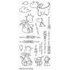 My Favorite Things MAGICAL DRAGONS Clear Stamps BB37