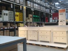 IKEA Alcorcon, Madrid, Self Serve Furniture Area, furniture displays