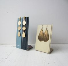 Earring Display  Made from Vintage Atlas  by TheeLetterQHandmade