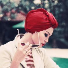 Turban head wrap - Old school Hollywood glamour with a hint of the exotic. So chic.