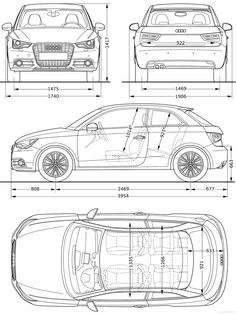 The Blueprintscom Blueprints > Cars Audi A1 2010
