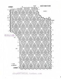 Diy Crafts - Crochet and arts: Pineapple red sweater Diy Crochet Cardigan, Crochet Bolero Pattern, Crochet Stitches Chart, Gilet Crochet, Black Crochet Dress, Freeform Crochet, Crochet Diagram, Crochet Lace, Crochet Patterns