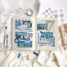 Bullet Journal Inspiration, Journal Ideas, Types Of Journals, Diary Book, Journal Design, Bts Drawings, Bts Chibi, Study Notes, Journalling