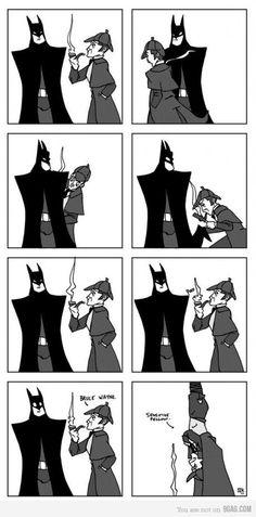 sherlock & batman.. my life is complete. haha