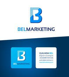 Bel Marketing - Création logo et carte de visite Logos, Marketing, Digital, Logo Creation, Carte De Visite, Projects, Logo