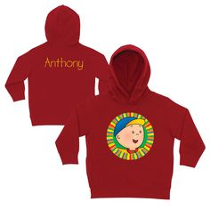 Caillou Hello Caillou Red Toddler Hoodie
