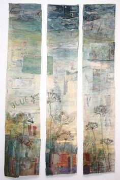 Cas Holmes - Paper, Textiles and Mixed-Media. Textile Fiber Art, Textile Artists, Free Motion Embroidery, Embroidery Art, Fabric Painting, Fabric Art, Cas Holmes, A Level Textiles, Creation Art