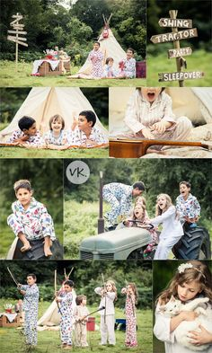 Camping Styled PHoto Shoot. Great way to reuse those awesome Christmas pjs (if they're not Christmas themed)