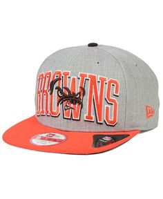 New Era Cleveland Browns Heather Wordmark 9FIFTY Snapback Cap
