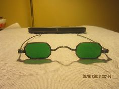 Green Lens Sunglasses with Case | eBay