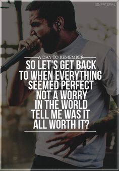 All I Want, A Day To Remember