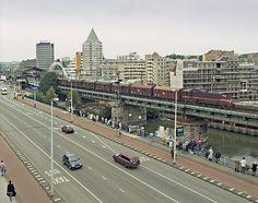 Rotterdam station Blaak, de situatie voor het station ondergronds gesitueerd werd in 1993.