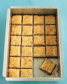 Cinnamon-Walnut Baklava | Martha Stewart Living - Reader Elif Ekin Tasdizen contributed this recipe for baklava, which layers store-bought phyllo dough into a buttery, nut-filled treat.
