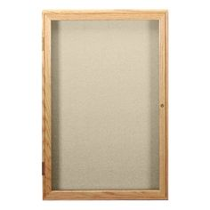 Enclosed Fabric Tackboard w/ One Door & Oak Frame (3' W x 3' H) at Fat Catalog