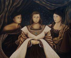 """""""D'après Anne de Clèves de Hans Holbein Le Jeune"""" 100x120 cm huile sur toile"""